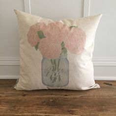 how cute is the Watercolor Mason ... !? get yours- http://sugarandsucculents.com/products/watercolor-mason-jar-of-peonies-pillow-cover?utm_campaign=social_autopilot&utm_source=pin&utm_medium=pin