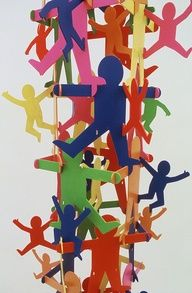 ( keith haring ideas - Google Search ) Make Contour Keith Haring People Out of Cardboard and Attach them!!