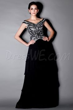 BuyMarvelous Beaded/Sequins Tiered A-Line Off-the-Shoulder Taline's Mother of the Bride Dress  Online, Dresswe.Com offer high quality fashion,Price: USD$128.69
