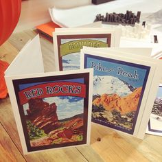 Awesome Colorado notecards are award winning and great to send to friends out of state! Made from Julie Leidel's original artwork.