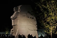 """The Martin Luther King, Jr. Memorial is seen on the first evening of its """"soft opening"""" ahead of its dedication this weekend in Washington, Monday, Aug. 22, 2011. (AP Photo/Charles Dharapak)"""