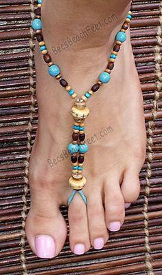 Iroquois Summer ~ BecsBeachFeet.com ✿ Foot Jewelry • Barefoot Sandals • Anklets • Bracelets