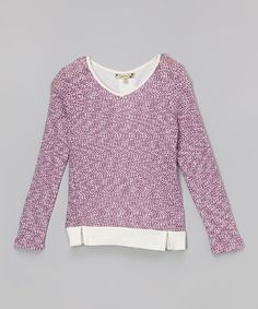 Look what I found on #zulily! Plum Space-Dye Pullover by Speechless #zulilyfinds