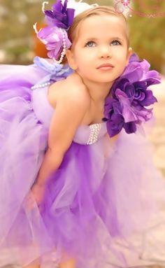 Sweet Dream Lavender Tutu Flower Girl Dress