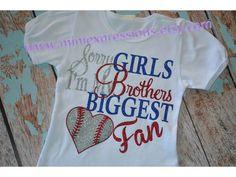 Glitter Baseball Sister Shirt by MiniExpressions on Etsy Baseball Sister, Baseball Shirts, Cute Outfits For Kids, Cute Kids, Baseball Pictures, Sister Shirts, Everything Baby, Mini, Baby Kids