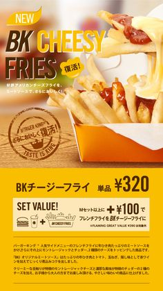 Wow BK Cheesy Fries, Japan.