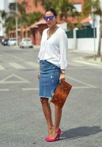 saia-lápis-jeans-com-camisa-branca