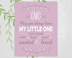 Personalized adoption art, adoption gift for baby girl, customize colors.
