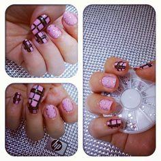 Nail Art Pekevision: How To: Nail Art Pink and Black. Arte de Uñas Rosa...