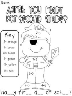 First Day of School Activities pack, grades 1-3. FREE
