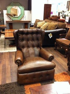 Leather Bergere