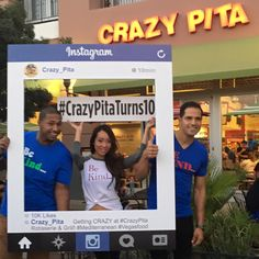 JayR Beatbox, LIsa Song Sutton and Ricardo Laguna stopping by to wish #CrazyPita at the District #Crazypitaturns10