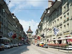 Switzerland Travel - Clock tower and Streetscapes in Bern