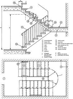 Inventive Staircase Design Tips for the Home – Voyage Afield Spiral Staircase Plan, Stair Plan, Staircase Design, Architecture Extension, Stairs Architecture, Architecture Details, Garage Exterior, Exterior Stairs, Stair Layout