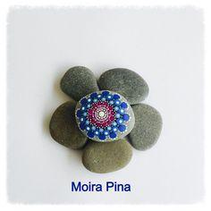 Handpainted stone Mandala Stone Mandala art Unique by MOIRAPINA