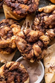 Easy Chocolate Cinnamon Crunch Knots | halfbakedharvest.com Cinnamon Crunch, Cinnamon Rolls, Easy Eat, Cupcakes, Half Baked Harvest, Brunch Recipes, Bread Recipes, The Best, Tasty