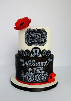Custom birthday cakes are designed, created and delivered in Montreal 18th Birthday Cake For Girls, Custom Birthday Cakes, Custom Cakes, Chalkboard Cake, Beautiful Cakes, Amazing Cakes, Cake Cookies, Cupcake Cakes, Girl Cakes