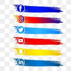 Black Social Media Icons, Social Icons, Social Media Logos, Web Banner Design, Snapchat Logo, Logo Design, Design Resume, Design Design, Graphic Design