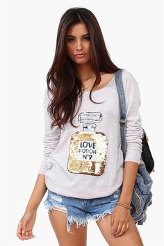 Love Potion Sweater in Light Pink