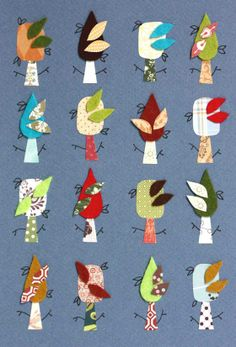 patternprints journal: TENDER COLLAGES WITH PATTERNS, PAPER AND FELT BY KUP KUP LAND