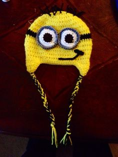 Despicable Me - Minion Earflap Crocket Hat - infant, toddler, baby, child, teen, adult by BallAndChainYarnery on Etsy https://www.etsy.com/listing/173805609/despicable-me-minion-earflap-crocket-hat