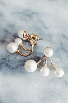 Pearl Trio Ear Jackets @JewelleryClub