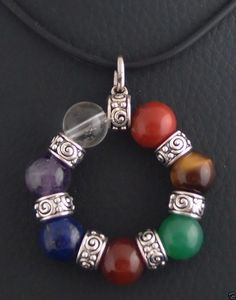 HEALING CHAKRA PENDANT with 7 different stones to balance your body & mind Heal | eBay