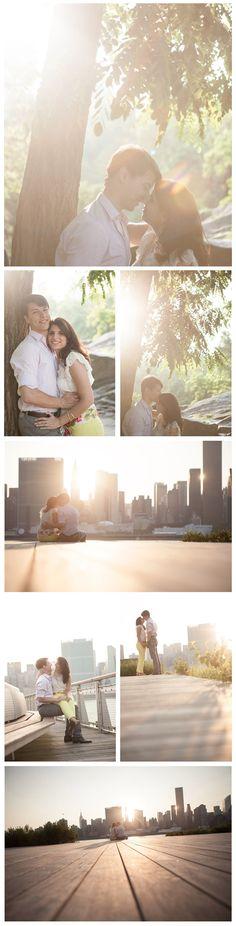 Romantic engagement shoot at Long Island City Pier. © Moss + Isaac MossandIsaac.com