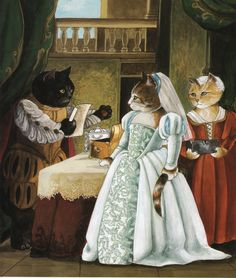 "Cat Art... =^. ^=... ❤... ""Merchant of Venice (William Shakespeare)"" By Artist Susan Herbert..."