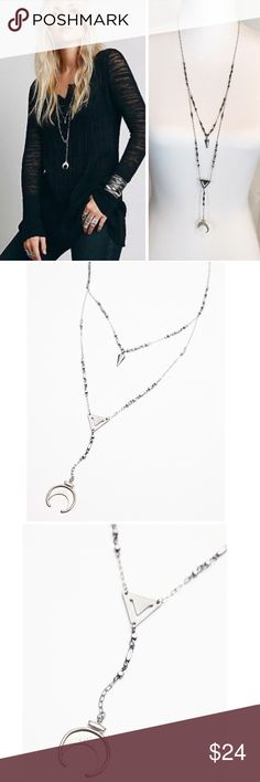 FREE PEOPLE DOUBLE LAYER ROSARY NECKLACE FESTIVAL FREE PEOPLE DOUBLE LAYER ROSARY NECKLACE $38 retail price brand new with sticker tag. DETAILS: Beaded rosary style chain necklace with statement charms. Lobster clasp closure. Metal. Color: metallic Free People Jewelry Necklaces