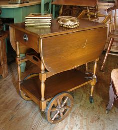 Antique Vintage Dropleaf Teacart Tea Cart SALE SALE SALE $40. Call 828-414-9700. by CURIOSITY. For You. Home. Garden., via Flickr