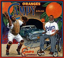 """Roy """"Campy"""" Campenella  Artwork by Ben Sakoguchi!"""
