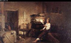 "Nicolae Grigorescu, ""Peasant Woman in her House"""