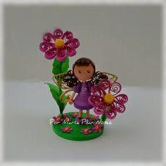 Purple Fairy By Pily Nuñez http://creaquilling.blogspot.com/2015/02/3d-quilled-fairies.html