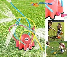 Kid Summer Toy Octopus Water Sprinkler Sprayer Play Fun Outdoor Garden Game Foam