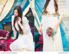 I found this beautiful vintage dress in ebay.com Perfect for a Boho Wedding   Ich habe diese wunderschöne Spitzenkleid auf Ebay.com gefunden und fand es perfekt für unser Boho-Hochzeitsshooting am See. Der goldene Gürtel ist von Mango  #Boho #wedding #weddingdress #vintage #lace   Picture by http://juliaschickfotografie.de/
