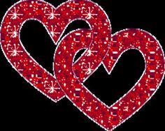 Second Life Marketplace - BBD - Black Background Red Ruby sparkle Hearts (Animated 1 Prim Gift/Decoration)!