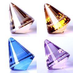 Crystal Diamond Ball Pendant Crystal Ball, Clear Crystal, Quartz Crystal, Crystal Diamond, Hanging Curtains, Festival Party, Healing Stones, Glass Pendants, Handmade Crafts