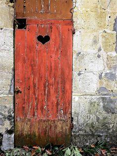 Old door, in Saint-Médard-en-Jalles, Gironde, France