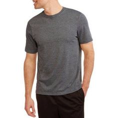 Athletic Works Men's Active Tee, Size: XL, Black