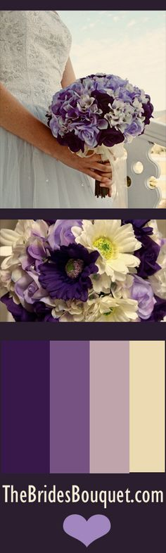 Absolutely gorgeous silk blooms for spring! Lovely shades of purple and lavender with our roses & hydrangea flowers. They coordinate so beautifully and make it super easy to put together a gorgeous wedding party full of vibrant flowers that last forever! No worries about wilting! www.TheBridesBouquet.com