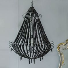 Black Beaded Chandelier - Large - View All Lighting - Lighting - Lighting & Mirrors