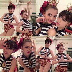 ミカさんとオソロイの衣装だったので謎のポーズたくさん撮ったよ〜 お風呂はいって寝ますぅおやすみっ #cyberjapan #cjd_karen #shooting #Spanish #costume #makeup #selfie #me #girl #gn