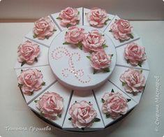 Скрапбукинг Упаковка День рождения Моделирование конструирование Сладкий торт с пожеланиями Розовые грезы Бумага Картон фото 1