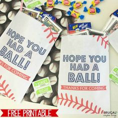 Take me out to the ball game or the the closest baseball themed birthday party with this FREE Baseball Party Favor Printable on Frugal Coupon Living.