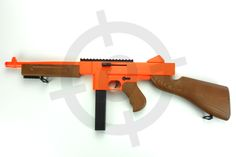 Airsoft Objectives Spring Airsoft BB Gun Rifle Double Eagle Tommy Gun M306F Orange