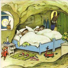 Bunny bedroom, by Fritz Baumgarten.