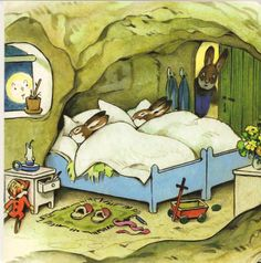 Bunny bedroom, by Fritz Baumgarten