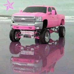 Every girl needs a pink truck....:)