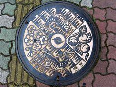 Koshoku Nagano, manhole cover (長野県更埴市のマンホール) | by MRSY